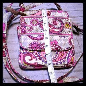 Vera Bradley pink purple grey crossbody bag